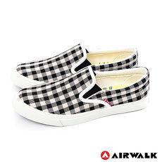 AIRWALK(女) - 方塊符號懶人帆布鞋 - 黑白格紋